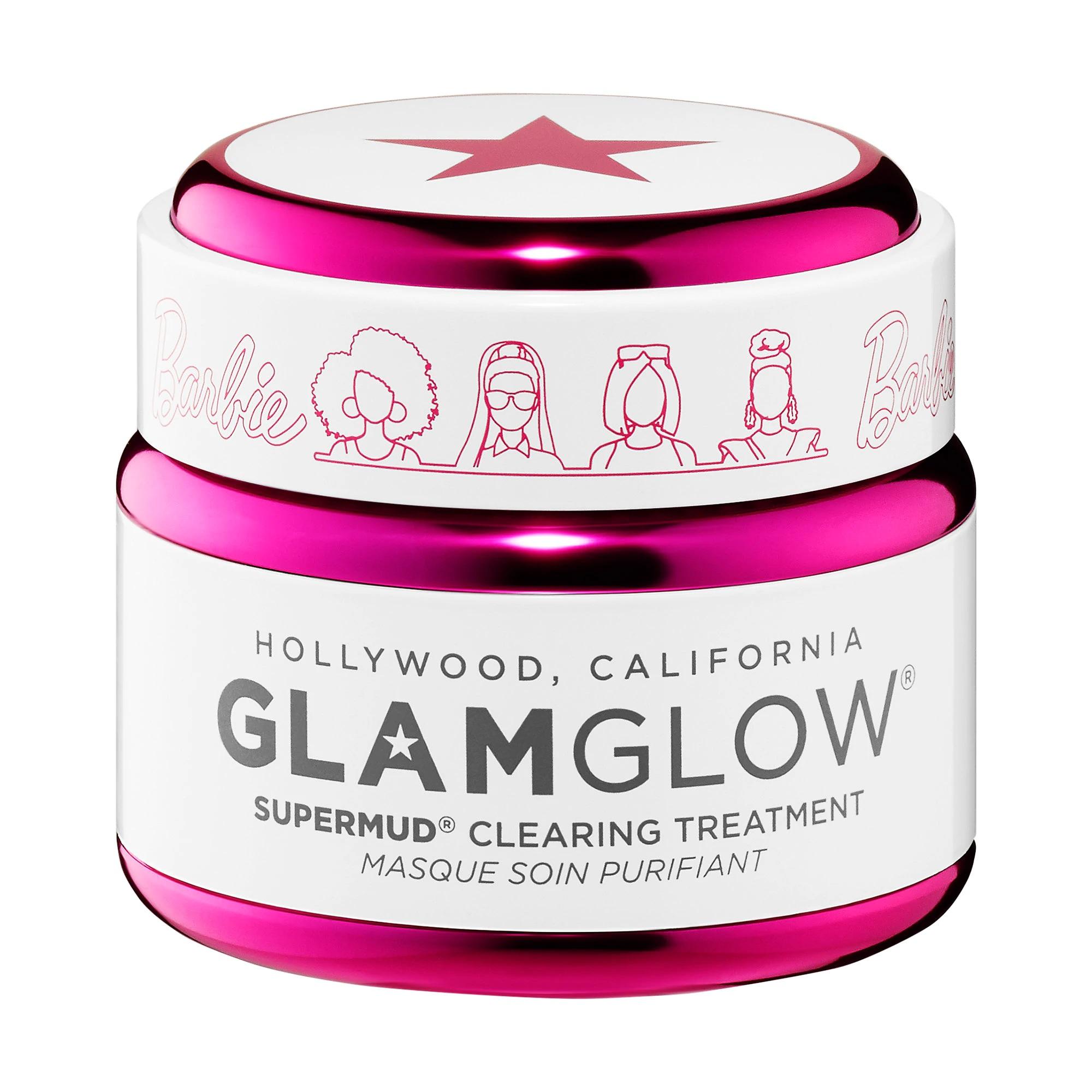 Barbie™ x GLAMGLOW Limited Edition SUPERMUD® Clearing Instant Treatment Mask te ayuda a limpiar los poros y mejorar la apariencia normal, mixta y propensa al acné. Se recomienda para pieles normales, mixtas y grasosas.  Entre sus ingredientes cuenta con una variedad de ácidos, carbón activado-X hoja de eucalipto, entre otros. Encuéntrala en Sephora. (Suministrada)