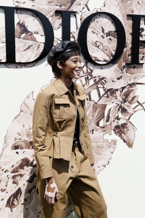 Winnie Harlow en el desfile de Dior.