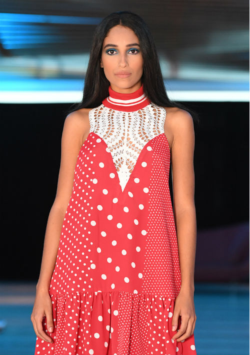 Los puntos fueron parte de varios de sus vestidos. (luis.alcalá@gfrmedia.com)