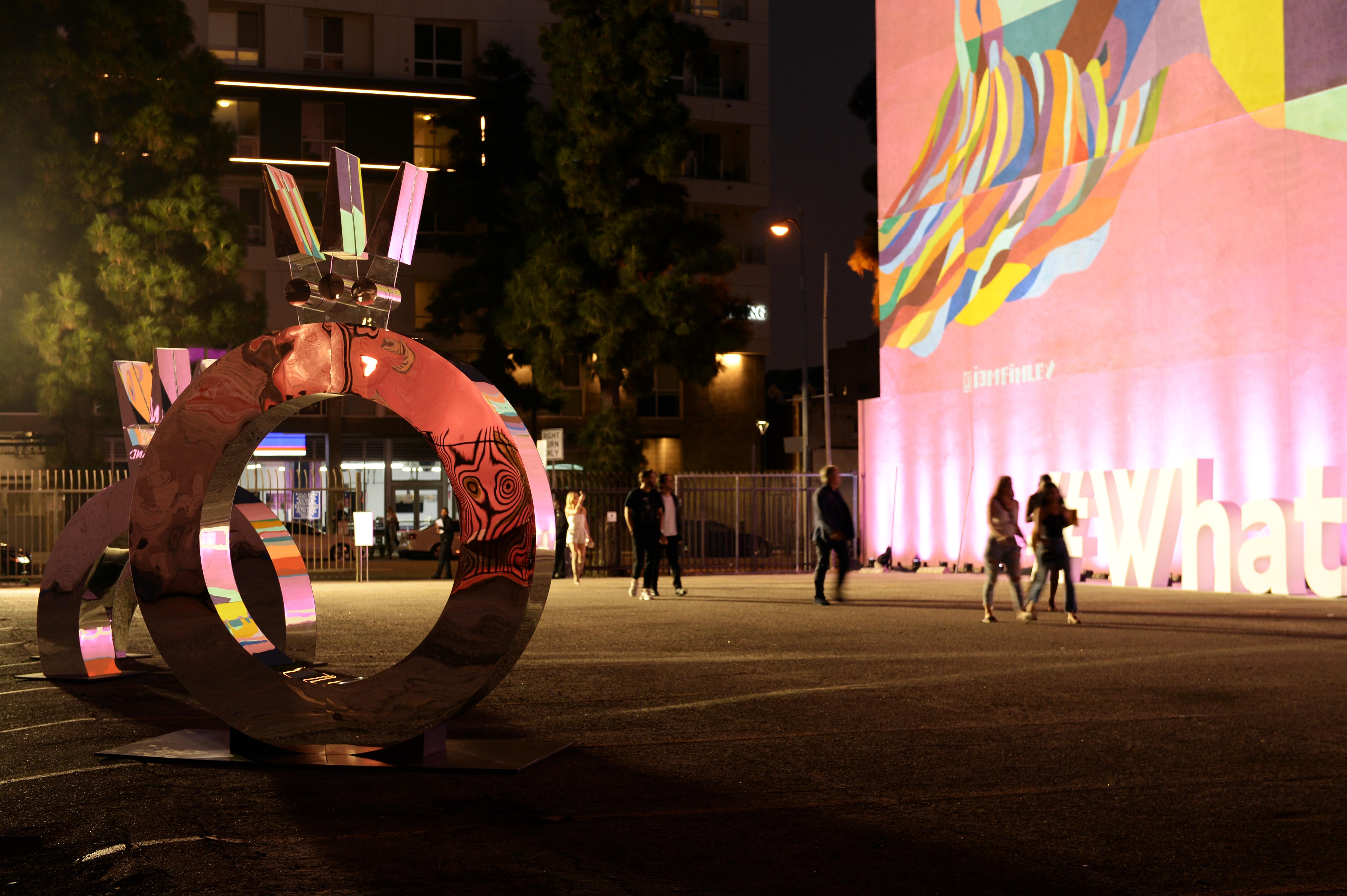 """Vista del ambiente durante el evento """"Pandora Street Of Loves""""celebrado en Los Ángeles, California, al cual asistieron las nuevas musas de la marca, como parte de una campaña inclusiva que se identifica con el hashtag #WhatDoYouLove y presenta a mujeres diversas y auténticas. Foto suministrada"""