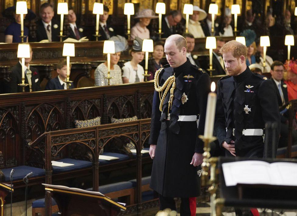 El príncipe William fungió como padrino de su hermano, el príncipe Harry. Jonathan Brady/PA Wire