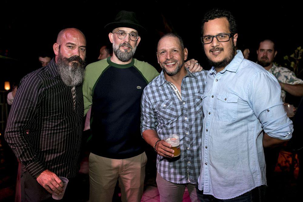 Brian Epps, Kacho López, Oscar Delgado y Alexis Díaz. (Foto: Suministrada)