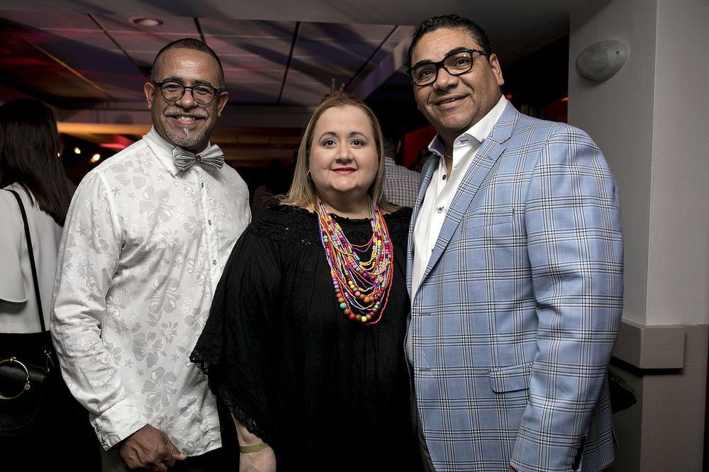 Jimmy Bauzá, Alexandra Caraballo y Raúl Vega. (Foto: Suministrada)