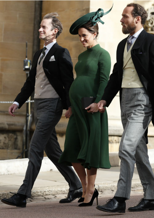 Pippa Middleton y su esposo, James Matthews. (AP)
