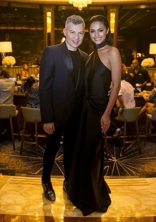 Gustavo Arango y Miss Universe Puerto Rico 2018,  Kiara Ortega. (Foto: Xavier García)