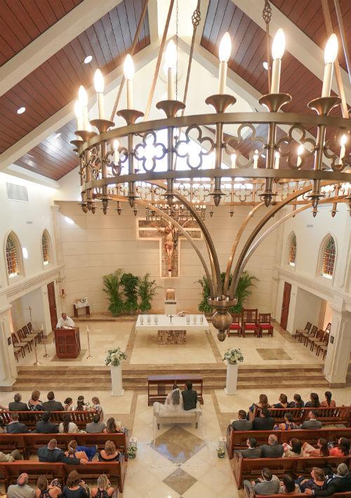 Ceremonia: Parroquia Stella Maris. (Suministrada)