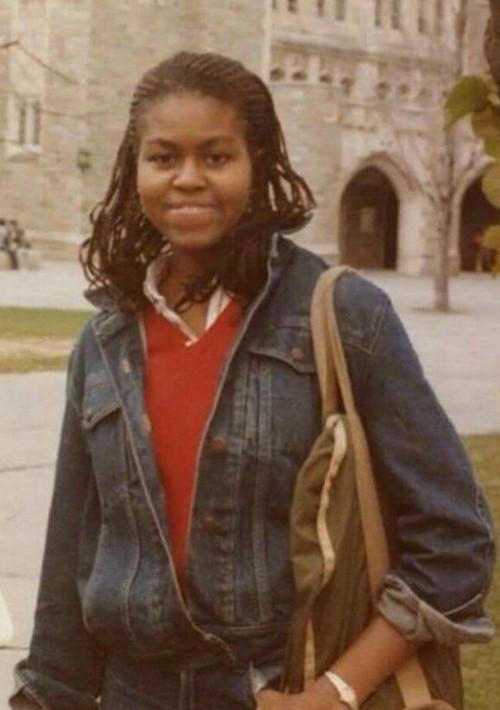 Como estudiante de Princeton en el 1983.