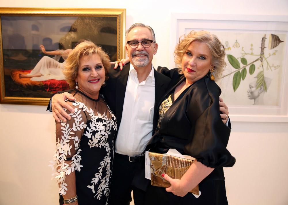 Teresita Fuentes, Agustín Rodríguez y Clara Amiama. (José Rafael Pérez Centeno)