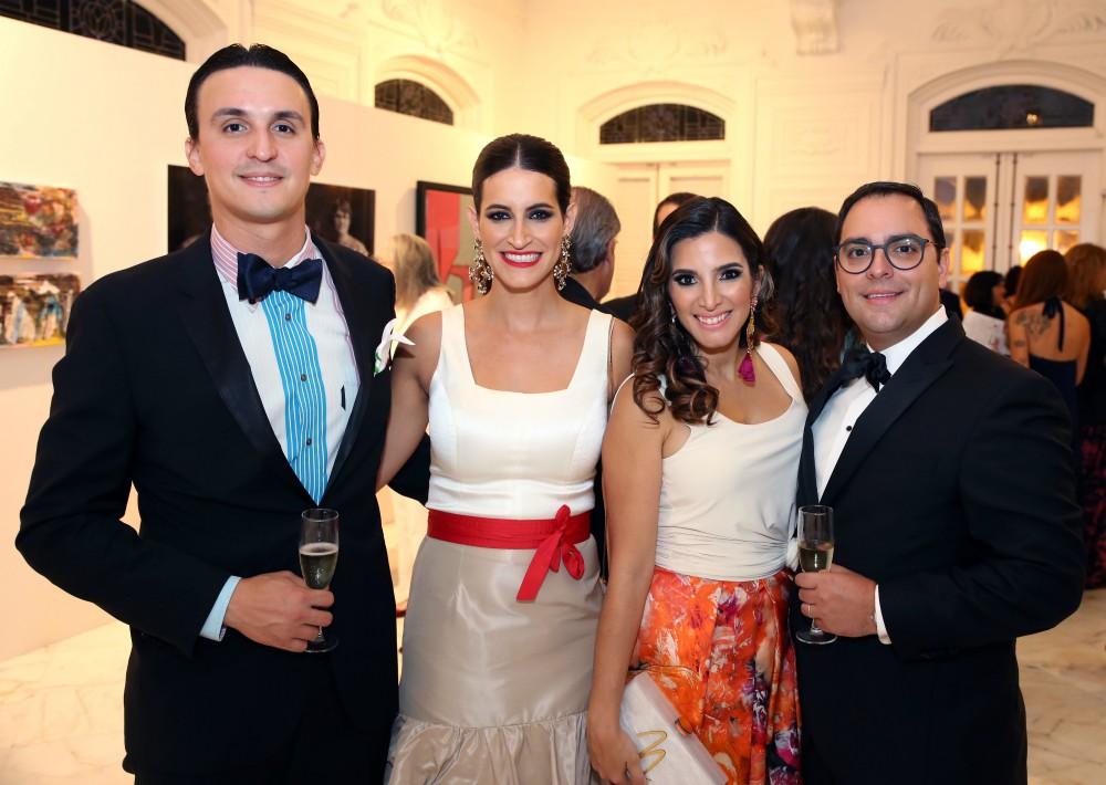 Juan y Francina Ramos y Natalia y Héctor del Río. (José Rafael Pérez Centeno)