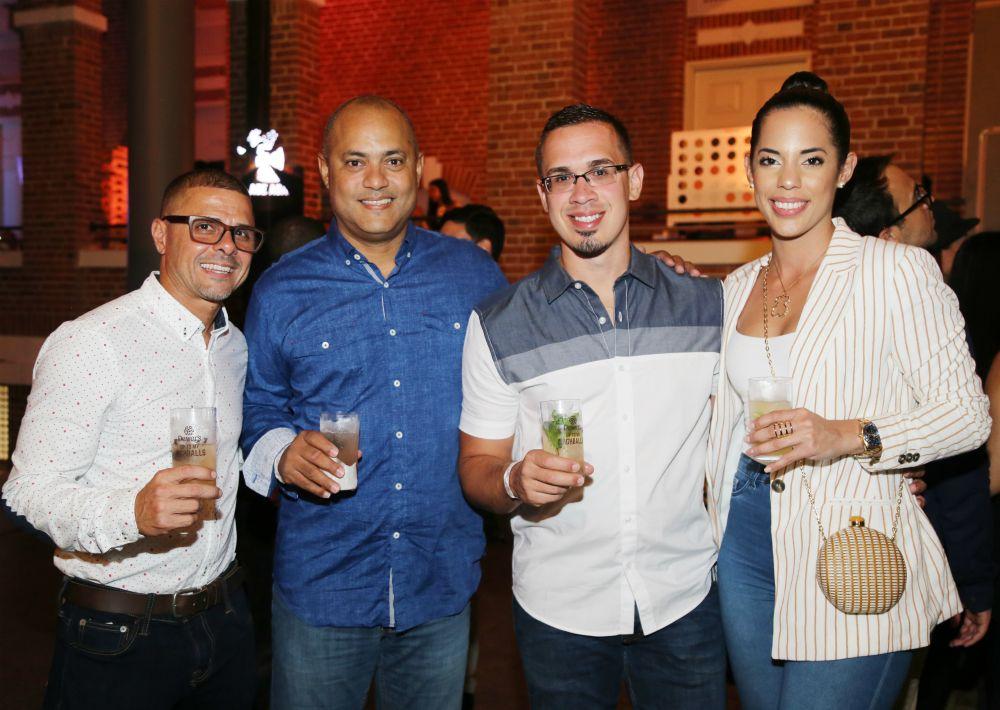 Julio fernandez, Julio Ortiz, Gerardo Mendez y Keila Melendez. (Nichole Saldarriaga)