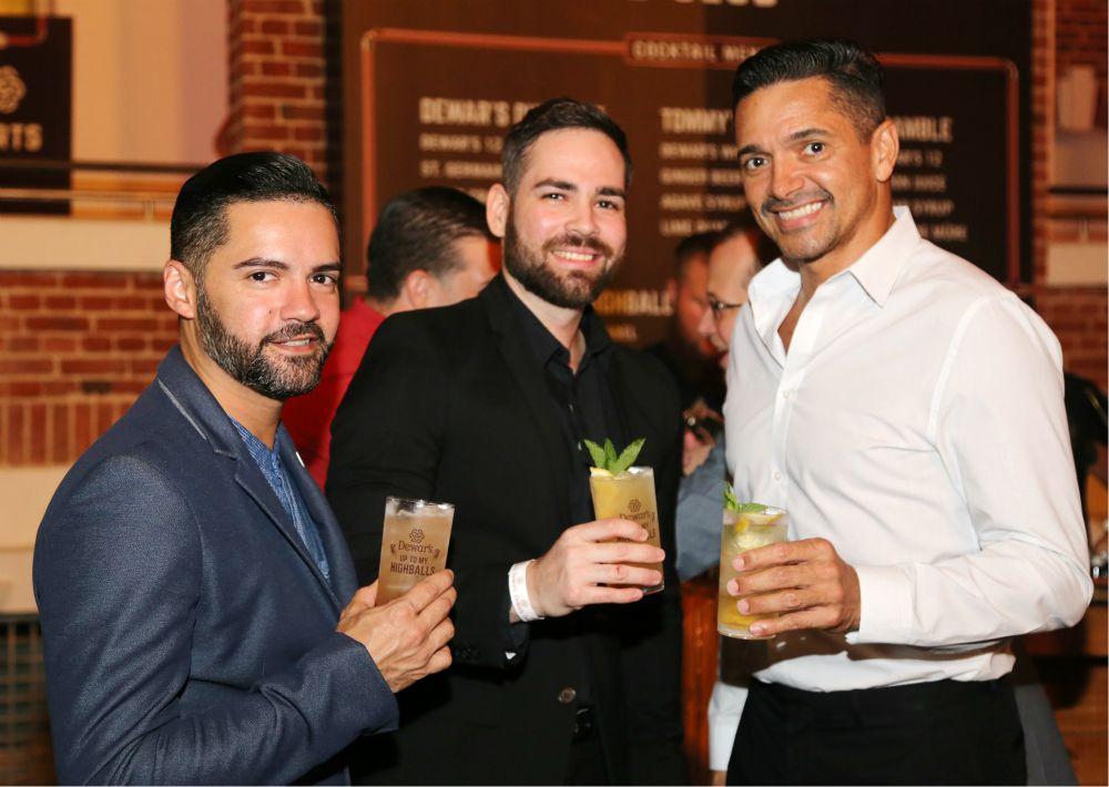 Javier Charlesman, David Rivera y Luis Acevedo. (Nichole Saldarriaga)