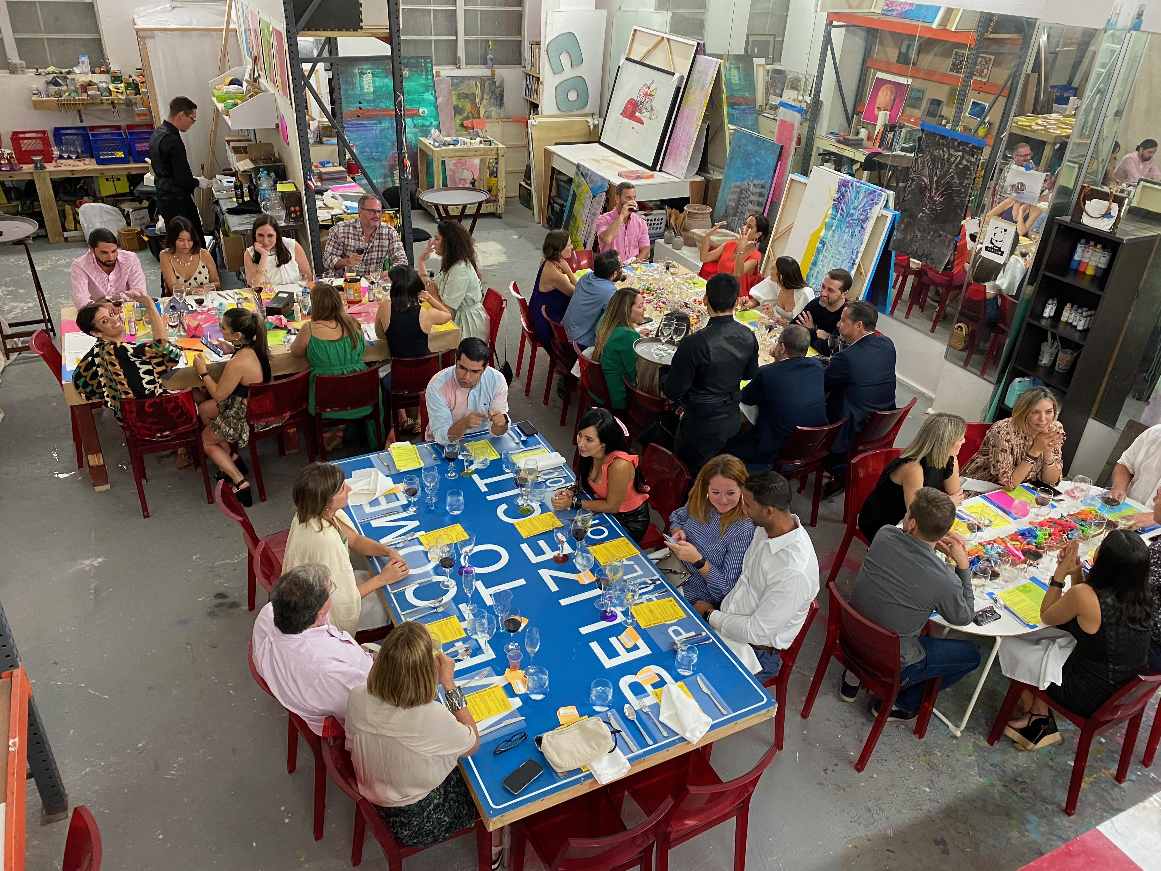 """""""The ARTstudio DINING SERIES"""" busca ampliar la oferta cultural en la Isla, ofreciendo maneras innovadoras de adentrarse en la obra de nuestros artistas, con el fin de fomentar un espíritu de apreciación, coleccionismo y filantropía en apoyo de artistas puertorriqueños. Foto suministrada"""