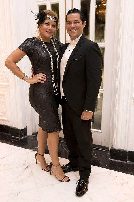 Annette Giuliani y Joseph Boucher en la celebración del centenario del Antiguo Casino de Puerto Rico.