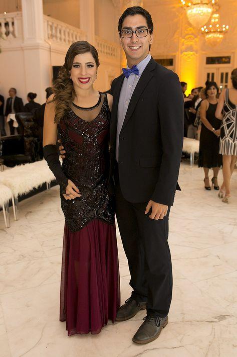 Gabriella Pérez y Sergio Calzada en la celebración del centenario del Antiguo Casino de Puerto Rico.
