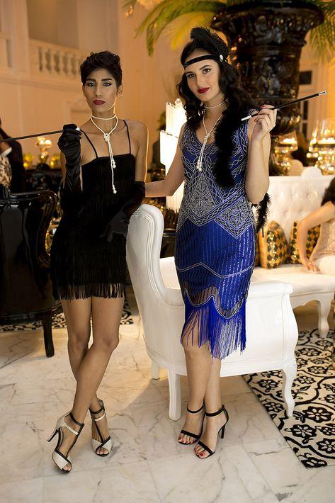 Krystal Almodovar y Gabriela de Hoyos en la celebración del centenario del Antiguo Casino de Puerto Rico.