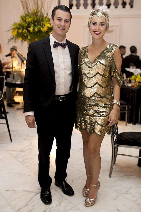 Julian Bayne y Alexandra Sánchez en la celebración del centenario del Antiguo Casino de Puerto Rico.