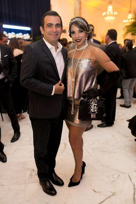 Francisco Feliú y Viviana Mercado en la celebración del centenario del Antiguo Casino de Puerto Rico.