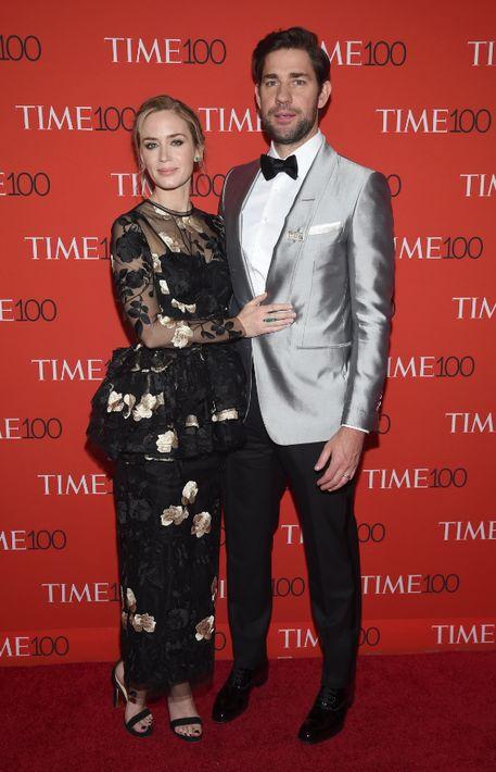 Emily Blunt y John Krasinski. (AP)