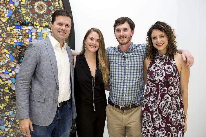 Edward y Jillian McGrath junto a Tom Schultz y Kathleen Borschow. Foto Xavier García.