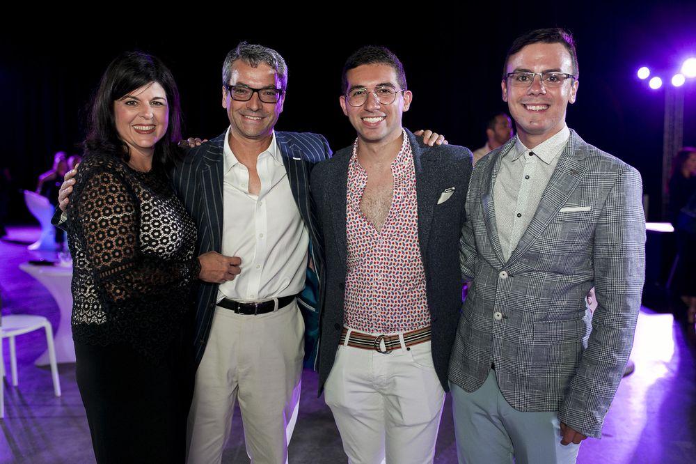Cecilia Sáez, Carlos Rodríguez, Eddie Ortiz y Pablo Figueroa. (Foto: Xavier García)