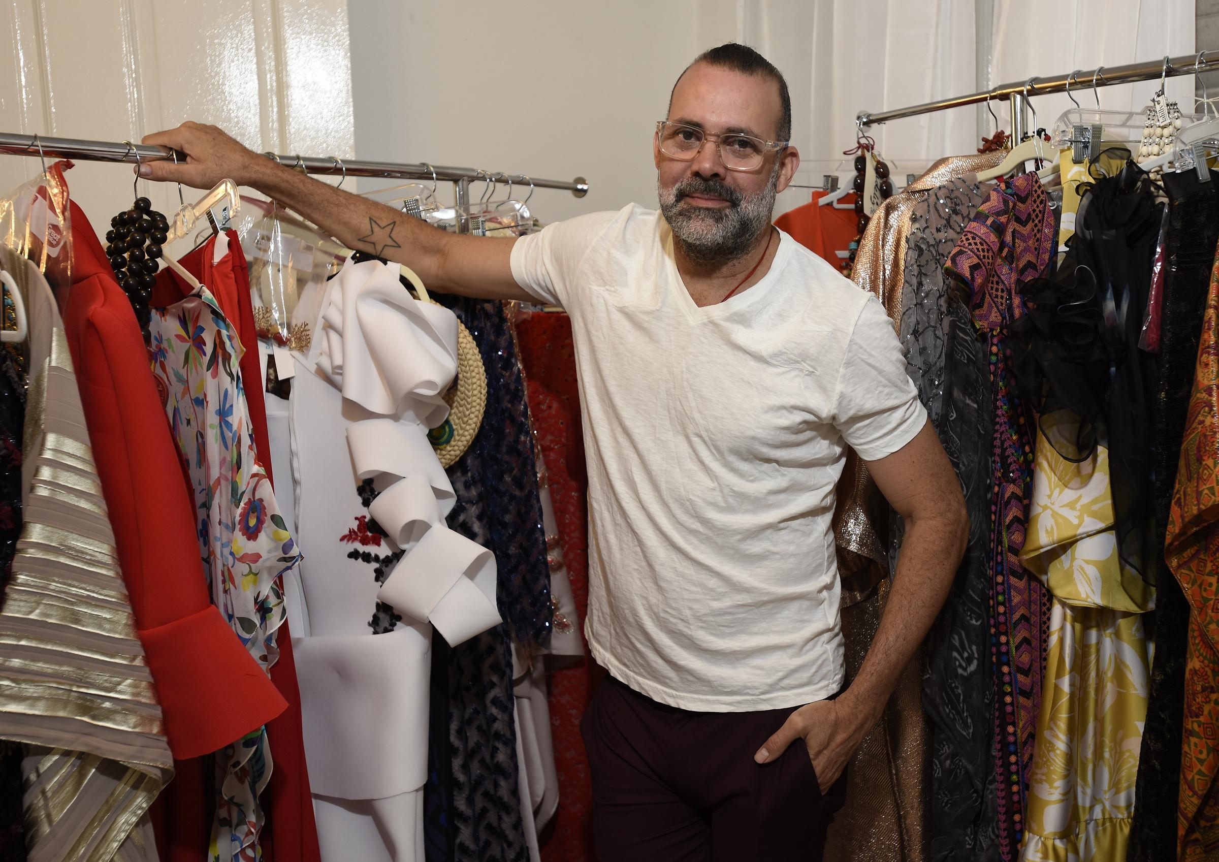 El diseñador David Antonio. Foto Ángel Luis García
