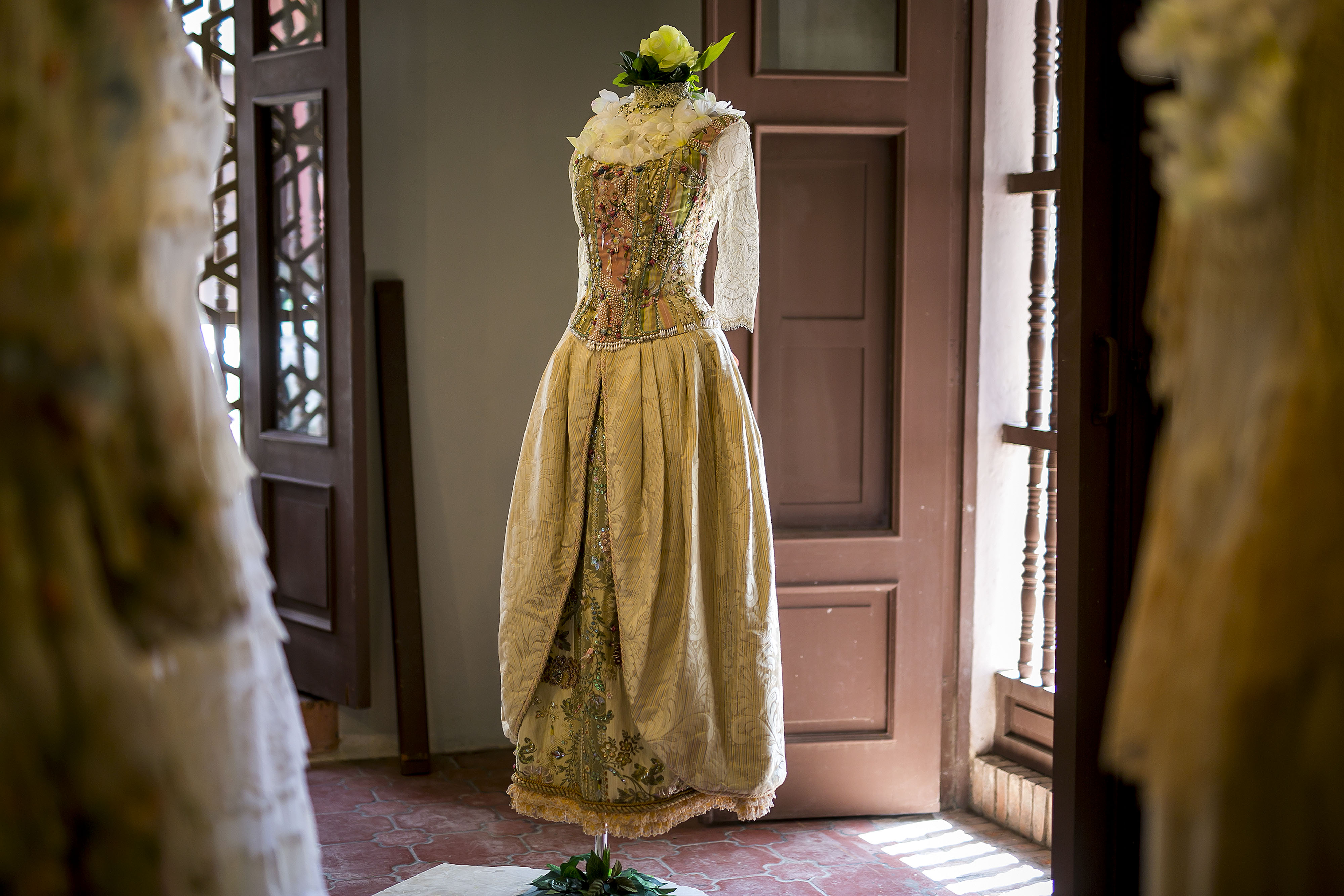 Vestido de novia de Caoppalli creado por Arango. (Foto: Xavier García)