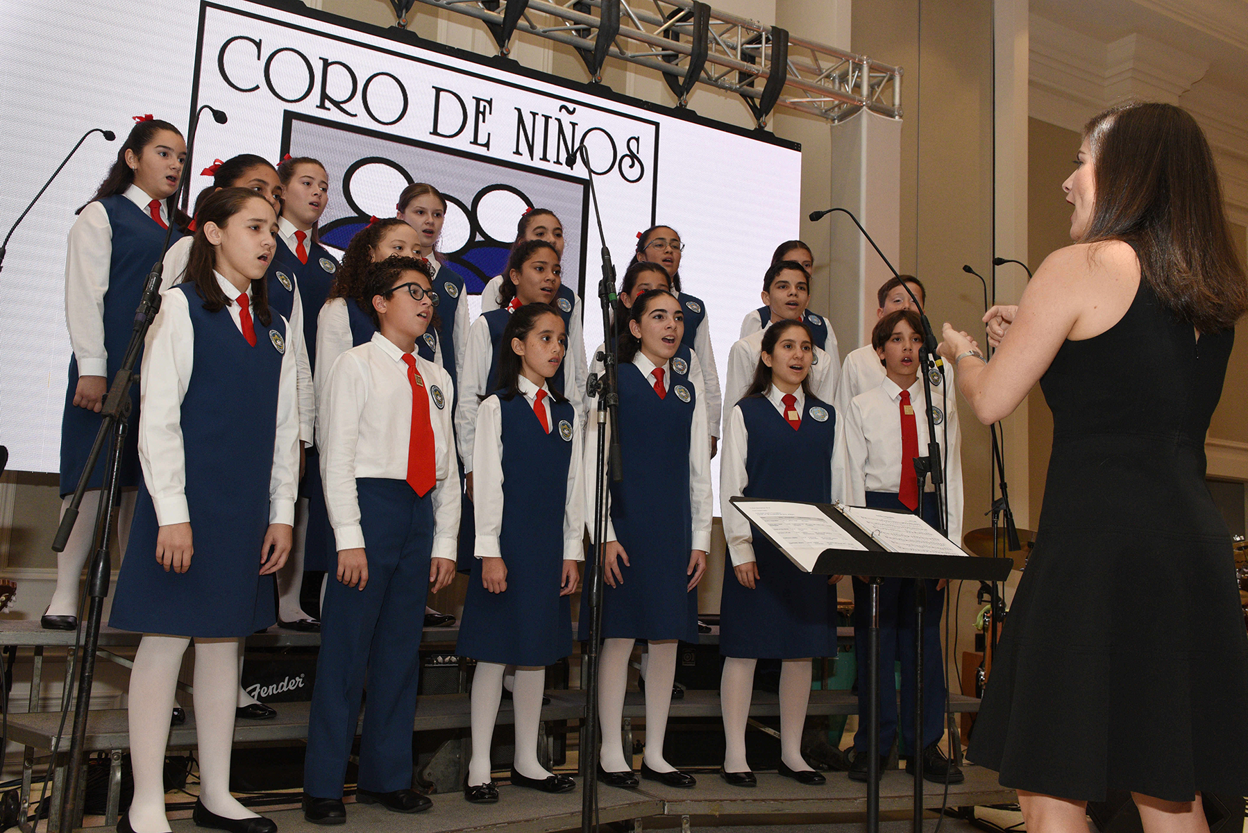 El Coro de Niños de San Juan deleitó a los presentes con su repertorio. (Fotos: Ingrid Torres)