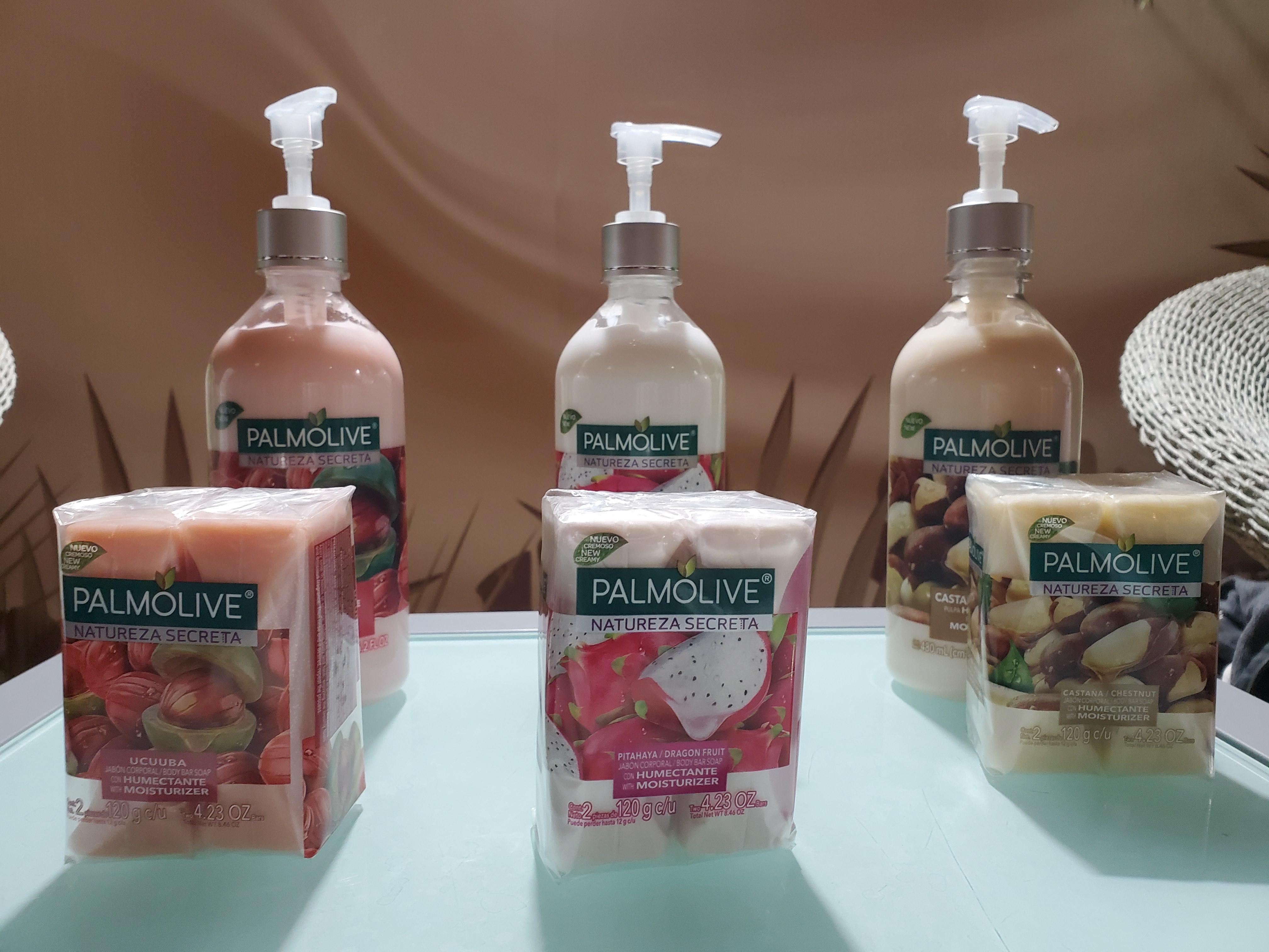 Buscando ampliar su oferta en la categoría de jabones, Palmolive presenta la línea Natureza Secreta, que cuenta con tres dúos de jabón y crema hidratante hechos a base de pitahaya (brinda luminosidad), castaña (antioxidante) y ucuuba (repara). (Suministrada)
