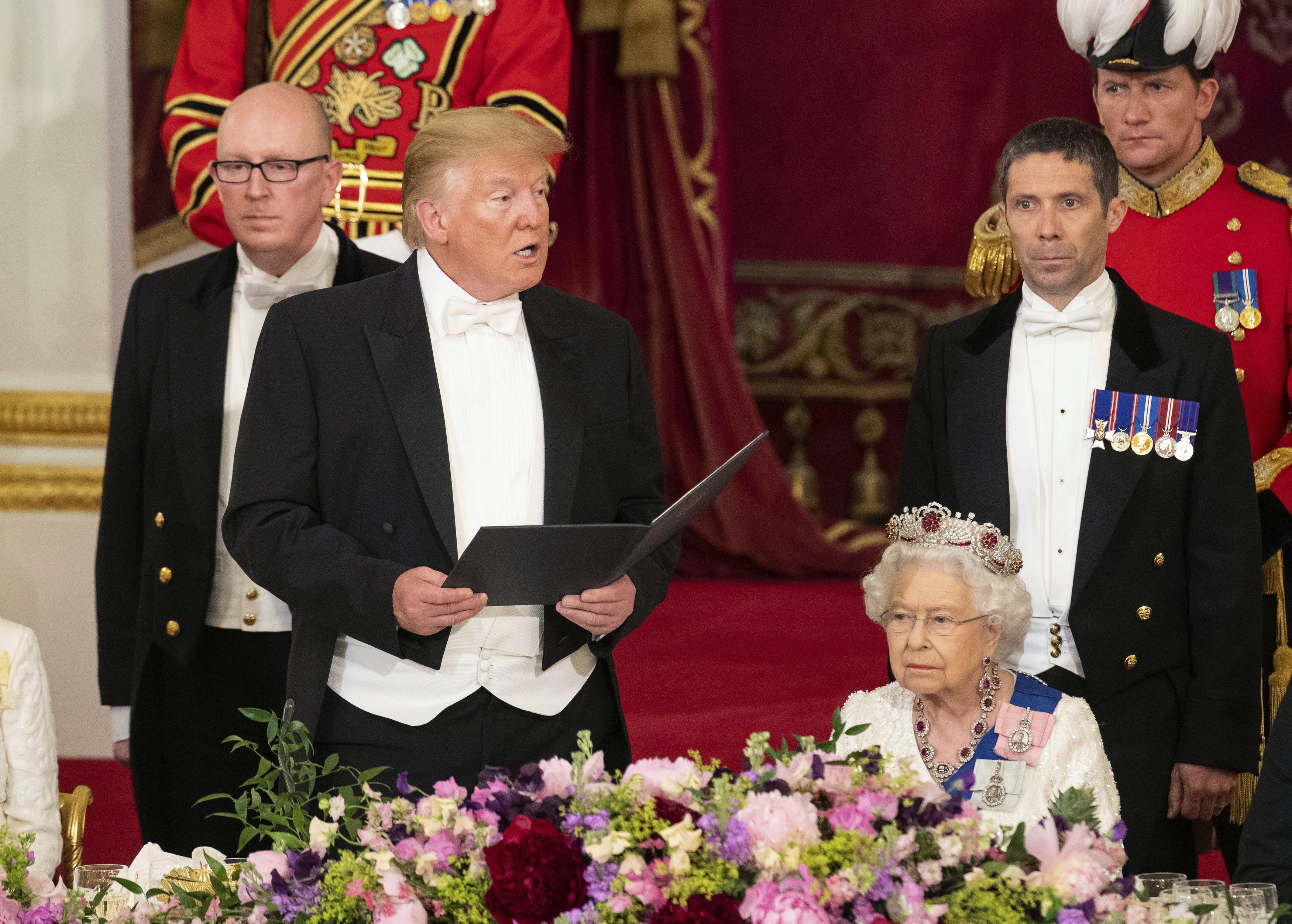 Donald Trump durante su discurso. (AP)