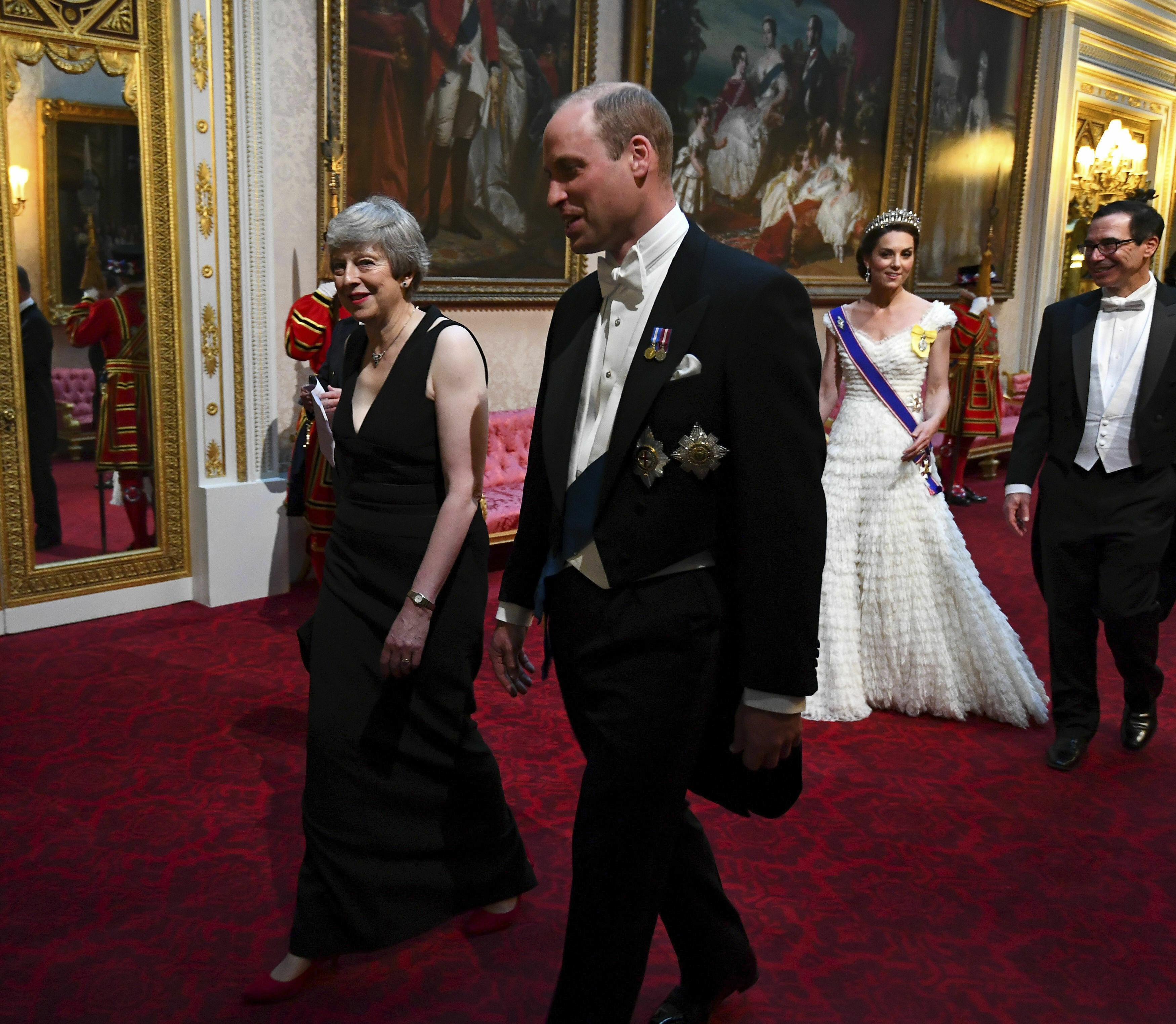 El príncipe William también dijo presente. (AP)