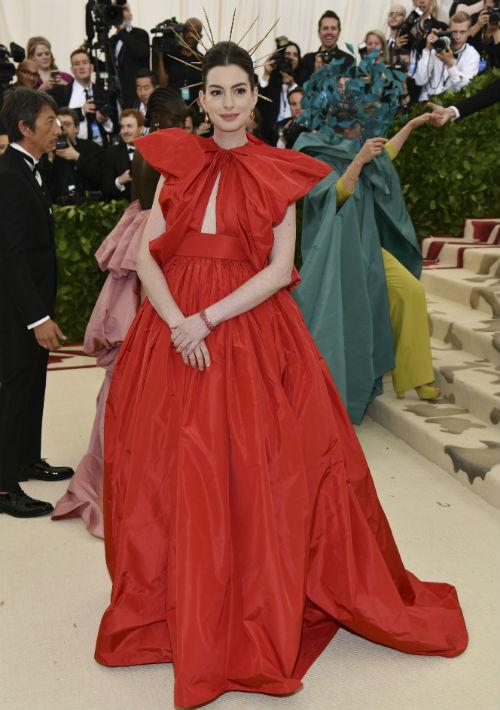 La actriz Anne Hathaway (AP)