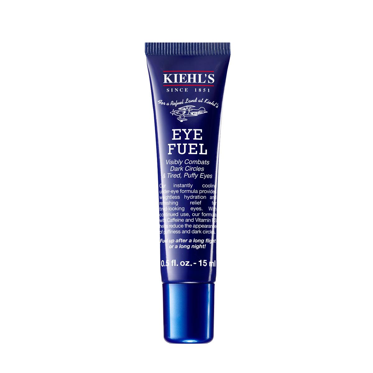 Eye Fuel de Kiehl's - Una crema de ojos creada para caballeros y está infusionada con cafeína y vitamina B3 para ayudar a reducir las bolsas y las ojeras. Ordénala a través de https://klickandgo.kiehls-pr.com/ (Suministrada)