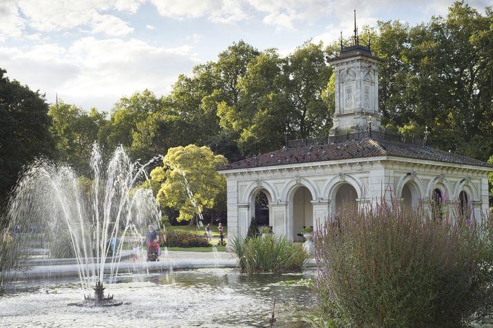 Una casa en el jardín italiano de Kensington Gardens, en Londres.