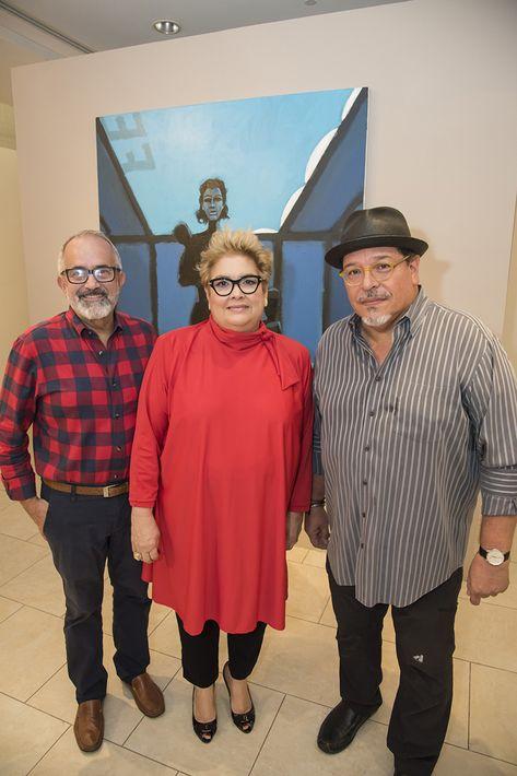 Rafael Irizarry, Sylvia Villafañe y Carlos Dávila Rinaldi. (Foto: Suministrada)