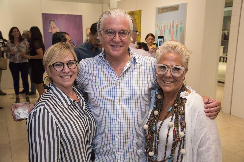 María Cristina Hermida, Jonathan García, Lily Pérez. (Foto: Suministrada)