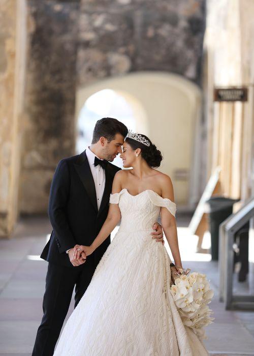 Los novios Aleyda Ortiz y Ricardo Casanova. Fotografia: Keren Photography