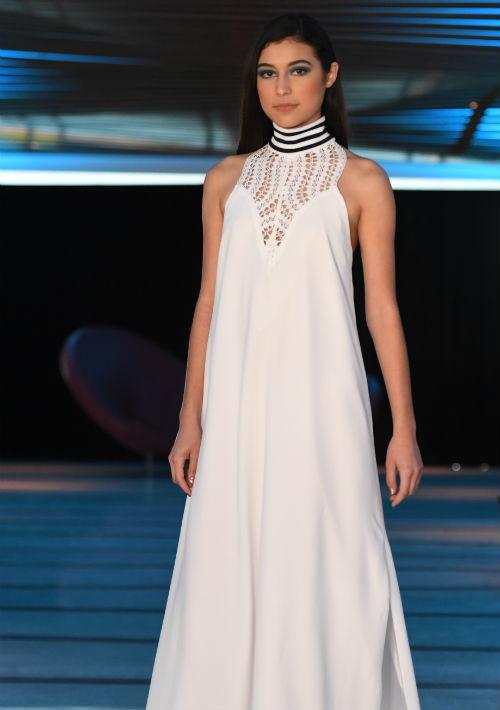 "Tampoco faltaron sus ""maxi dresses"". (luis.alcala@gfrmedia.com)"