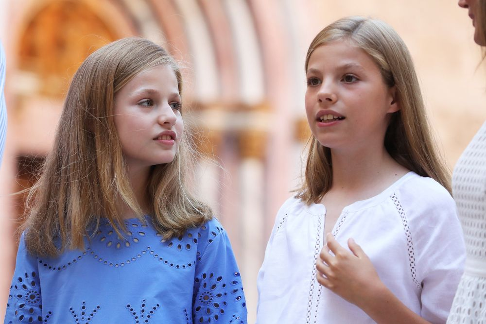 La princesa Leonor y la infanta Sofía. (Foto: EFE)