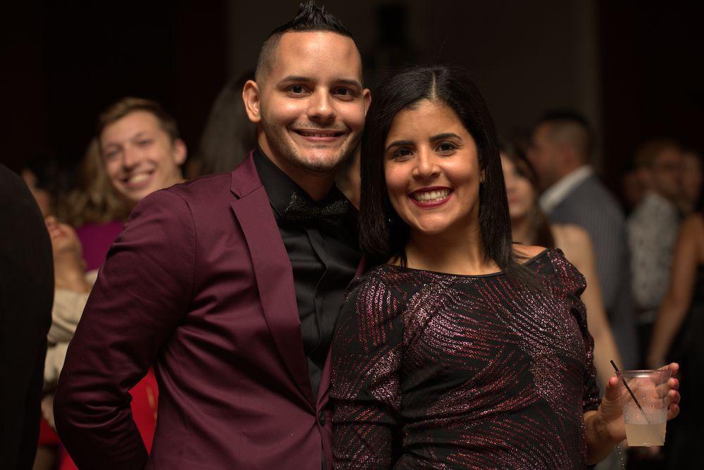 Asistentes a la gala de fin de año del hotel Sheraton. Suministradas