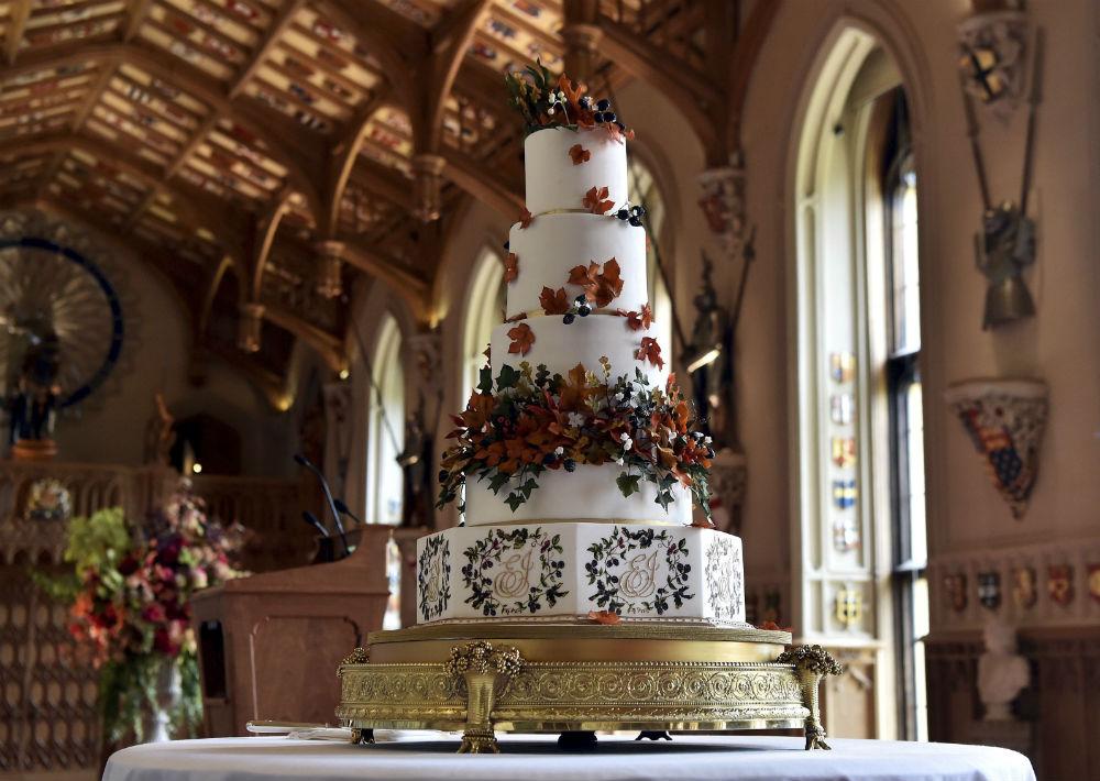 El bizcocho de la celebración fue creado por Sophie Cabot. (AP)
