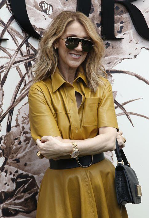 Celine Dion en el desfile de Dior.