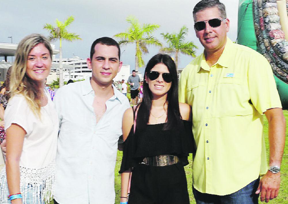 Frances González, Javier Ferrer, Patricia y Jose Colón. (Foto: José Rafael Pérez Centeno)