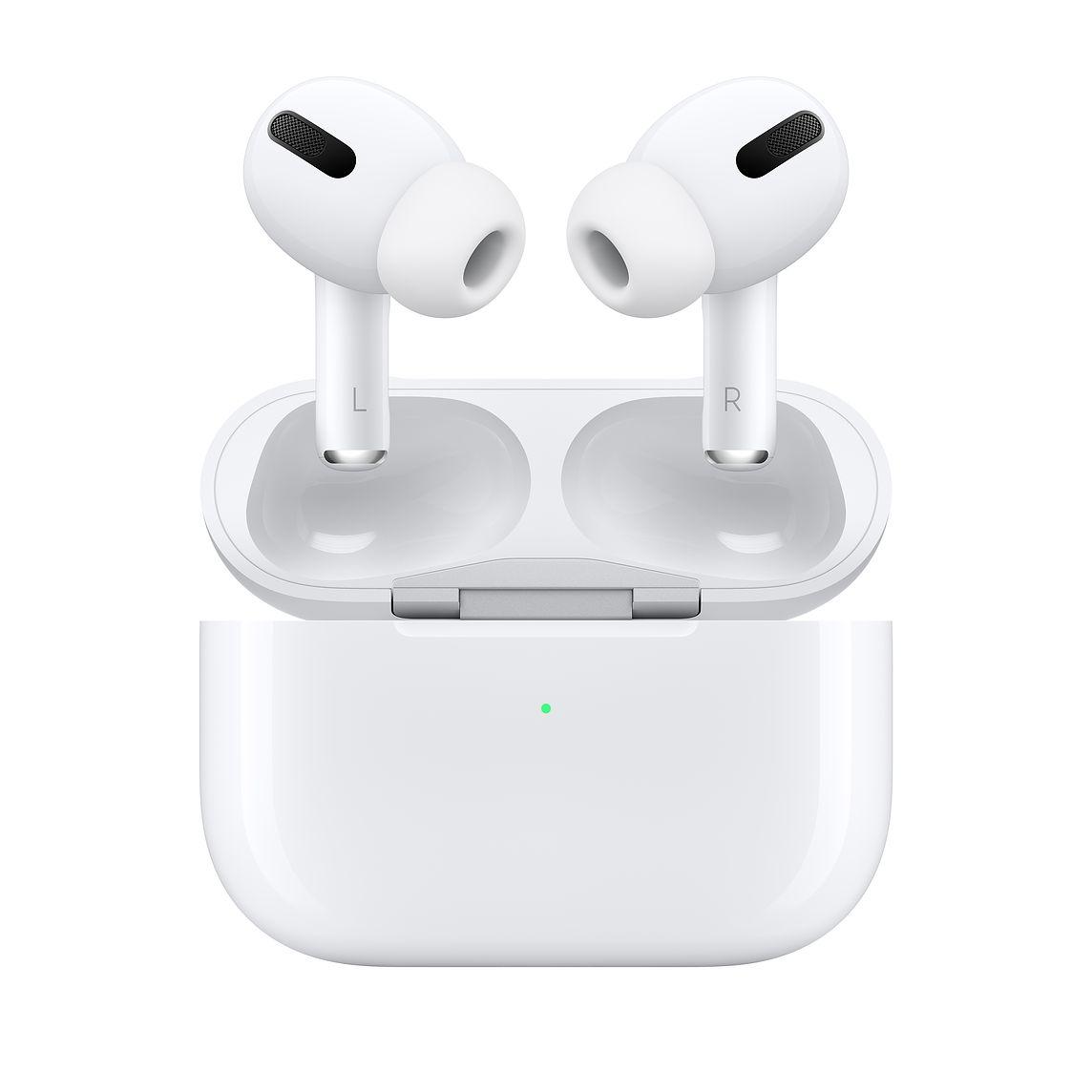 """Audífonos inalámbricos - Una alternativa versátil en este momento donde las videoconferencias son la orden del día, además de ser un """"gadget"""" para los padres que disfrutan ejercitarse al ritmo de la música. En la foto, Airpods Pro de Apple. (Suministrada)"""