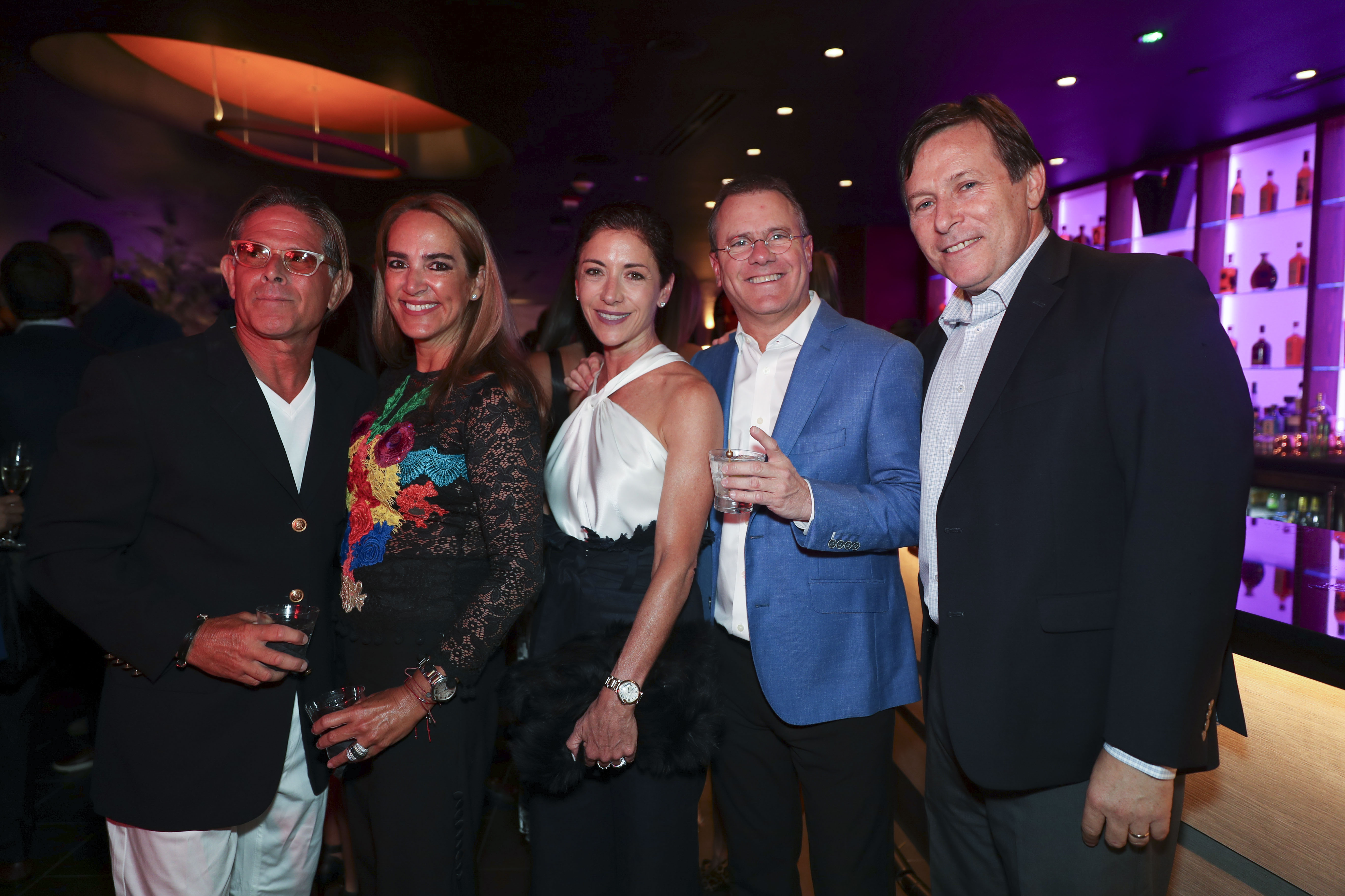Alejandro y Mariana Aguirrechu, Violi y Tony Casellas y Joel Katz. (Suministrada)