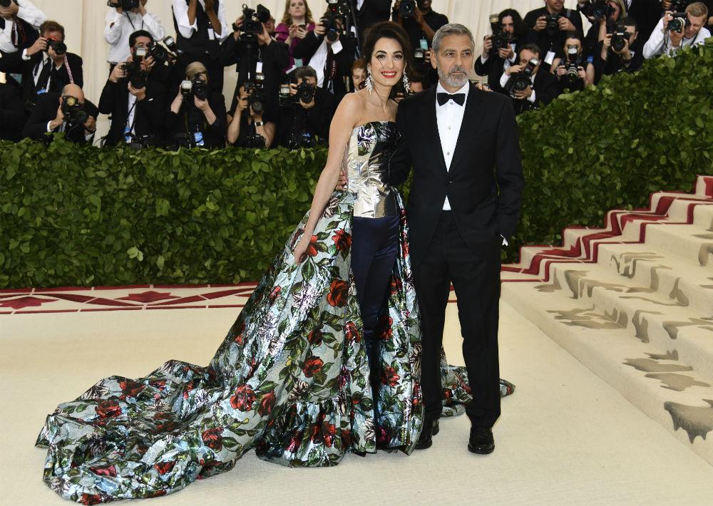 Amal y George Clooney (AP)