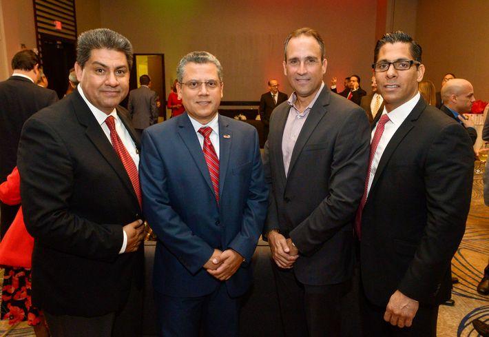 Juan Luis Espinosa, Mario Barrera, Edgardo Rivera y Carlos Escobar