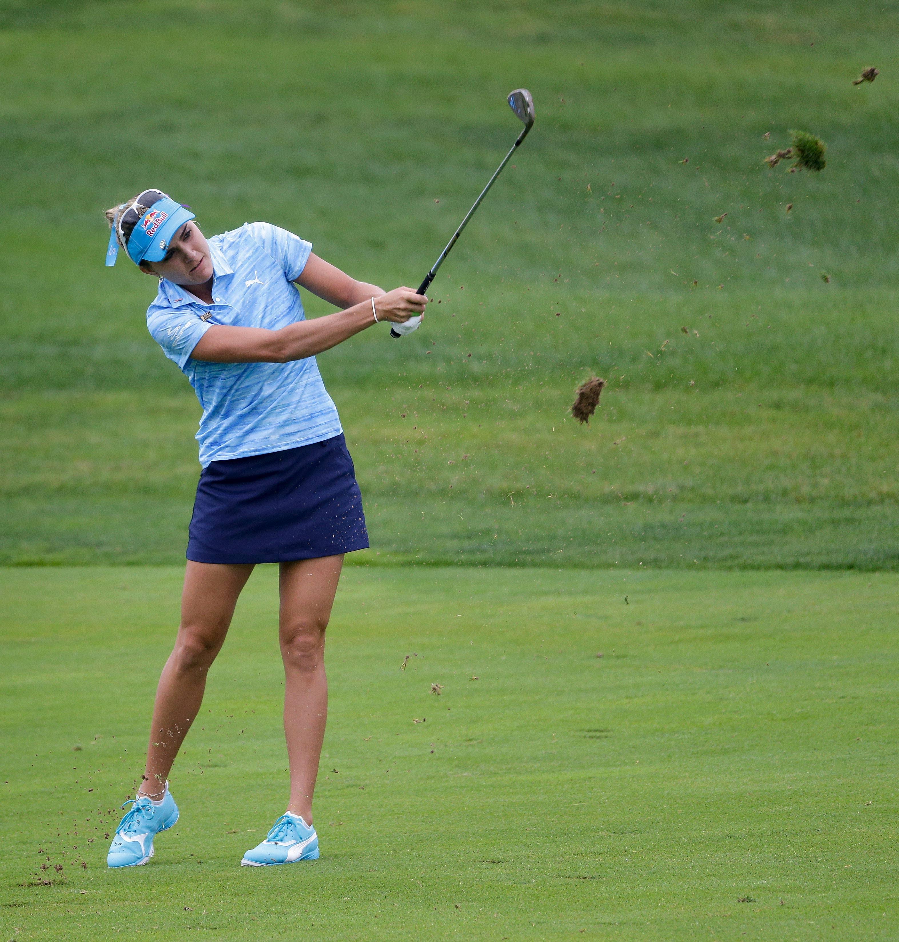 Otra imagen de la estadounidense Lexi Thompson en el U.S. Women's Open. Foto AP?