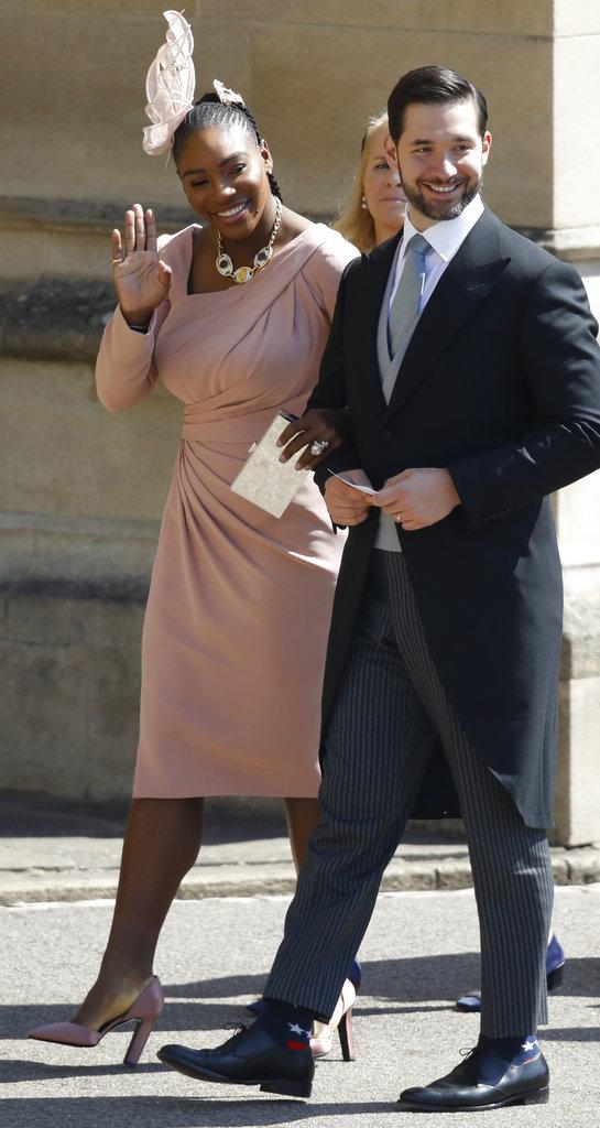 Serena Williams llega con su esposo Alexis Ohanian a la boda de Harry y Meghan. (Foto: AP)