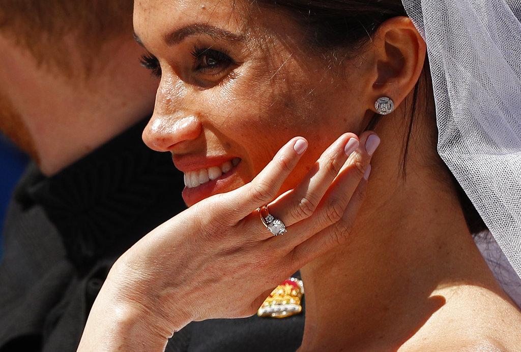 Los anillos de Meghan: el de boda y el de compromiso. (Foto: AP)