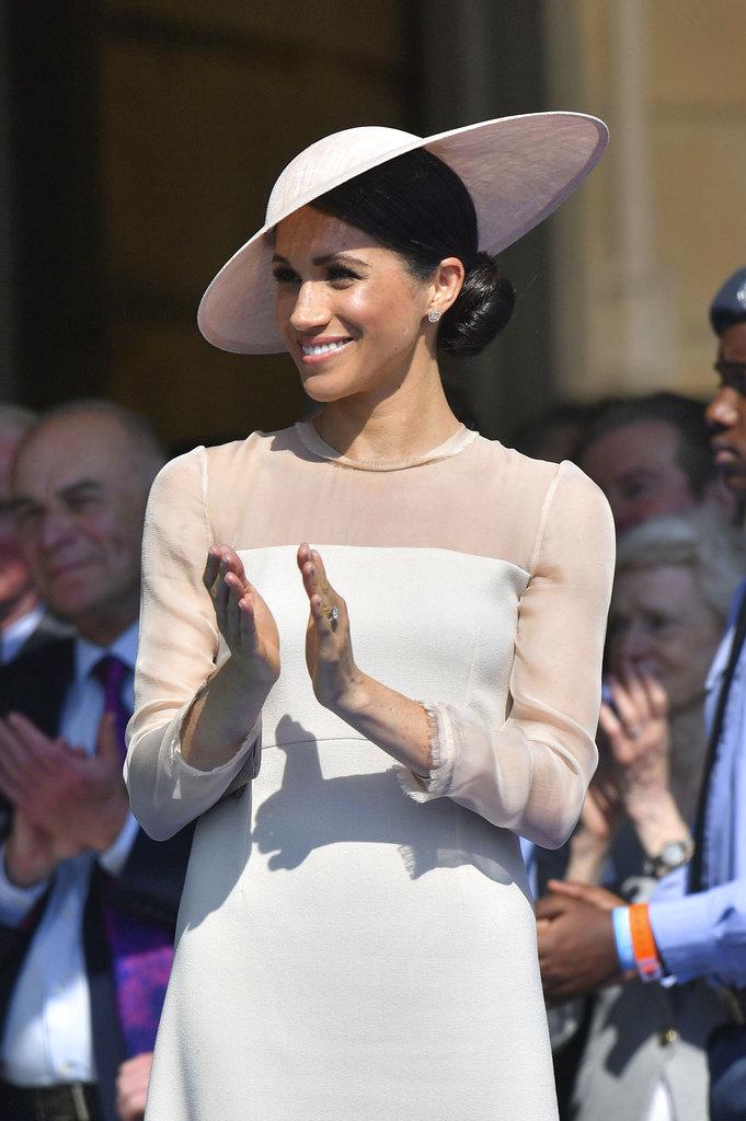 Meghan Markle aplaudió las palabras del príncipe Harry hacia el príncipe Charles. (Foto: AP)